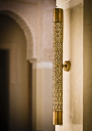 Morocco, Fes, Hotel Riad Fes, wall lamp LANG_EVOIMAGES