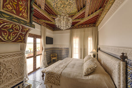 Morocco, Fes, Hotel Riad Fes, hotel suite LANG_EVOIMAGES