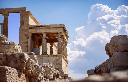 Greece, Athens, ancient porch of caryatides