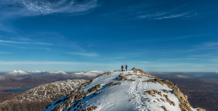 United Kingdom, Scotland, Glencoe, Stob Dearg, mountaineers