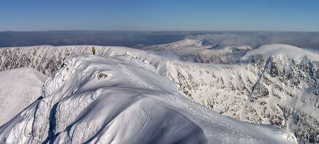 United Kingdom, Scotland, Ben Nevis, Panoramic view of Carn Mor Dearg