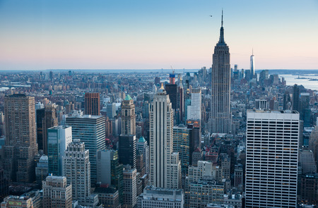 USA, New York, Manhattan, Empire State Building in the evening