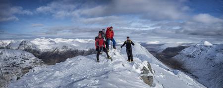 Scotland, Glencoe, Buachaille Etive Beag, Stob Dubh, mountaineering in winter