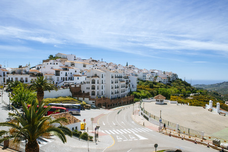 Spain, Andalusia, Malaga, Frigiliana, white town on the Costa del Sol