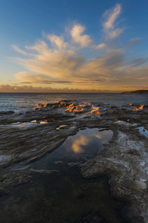 Australia, New South Wales, Maroubra, coast in the evening