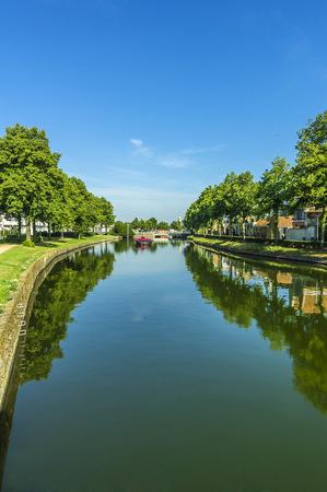 Holland, Walcheren, Middelburg, canal