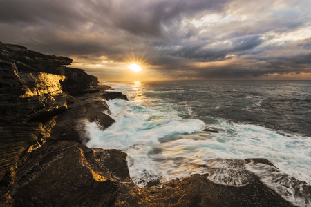 Australia, New South Wales, Maroubra, beach in the evening LANG_EVOIMAGES