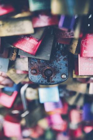 Love locks, close-up LANG_EVOIMAGES