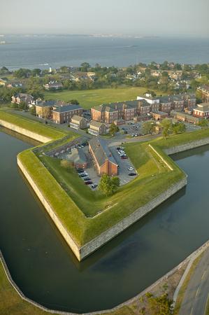 USA, Virginia, Aerial photograph of Fort Monroe in Hampton