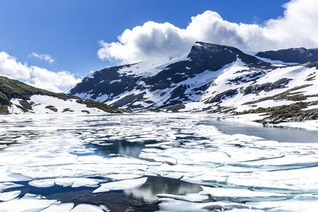 Norway, Jotunheimmen National Park, Ovre Hervavatnet lake