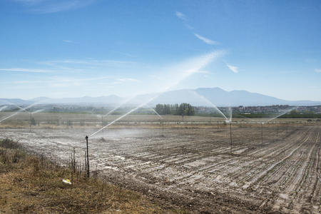 Spain, Logrono, irrigation system