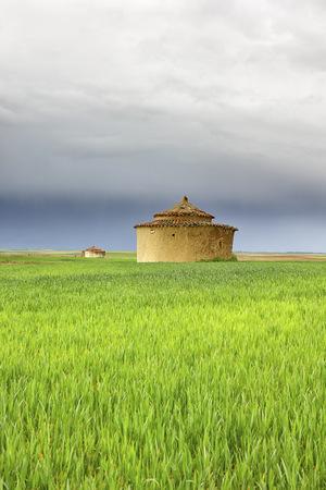 Spain, Torremormojon, old building in a field LANG_EVOIMAGES