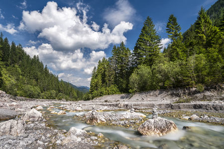 Germany, Bavaria, Wimbach Valley with Wimbach