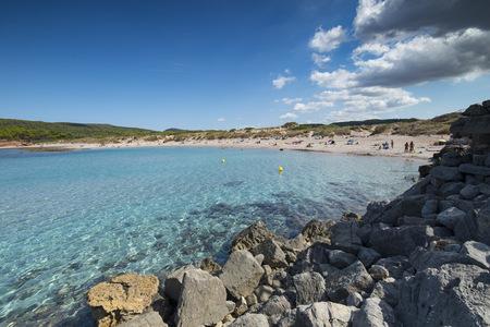 Spain, Menorca, La Vall beach in summer LANG_EVOIMAGES