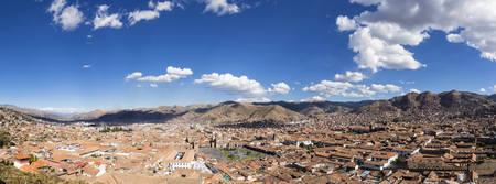 Peru, Andes, Cusco, cityscape as seen from San Cristobal church