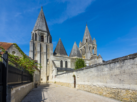France, Loches, view to Collegiale Saint-Ours at Loches castle