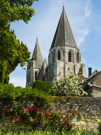 France, Loches, church Collegiale Saint-Ours at Loches castle