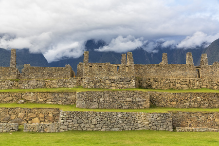 Peru, Andes, Urubamba Valley, Machu Picchu, Main Square and temple of three windows LANG_EVOIMAGES