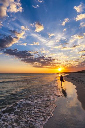 Spain, Menorca, Son Bou, sunset LANG_EVOIMAGES