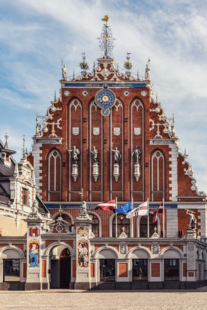 Latvia, Riga, House of the Blackheads at town hall square