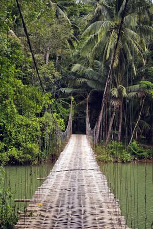 Indonesia, Java, suspension bridge