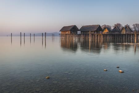 Germany, Lake Constance, pile dwellings at Unteruhldingen