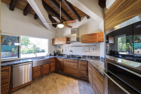 Built-in kitchen of an one-family house
