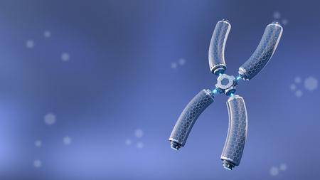 Technical chromosome, 3d rendering