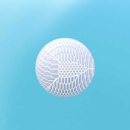 3D Rendering, Sphere shaped from various fragments