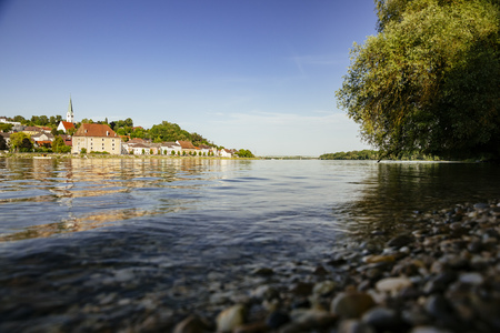 Austria, Mauthausen, View from Danube river LANG_EVOIMAGES