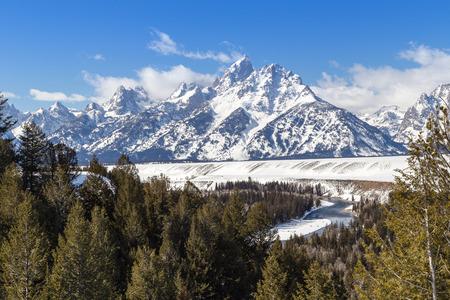The Grand Teton in western Wyoming. 版權商用圖片