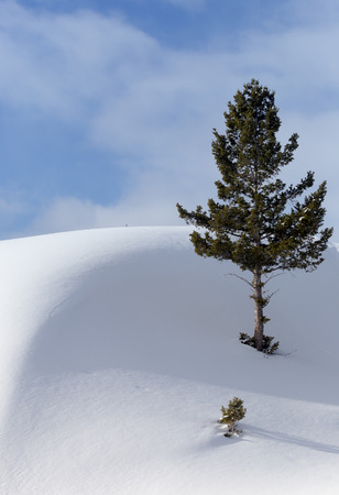 cloud drift: A winter day in the west. Stock Photo