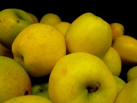 pome: Golden apple Stock Photo