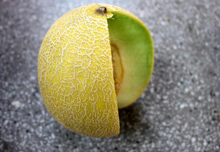 reticulatus: Galia melon, Sarda in India and Persia, Cucumis melo var  reticulatus Stock Photo