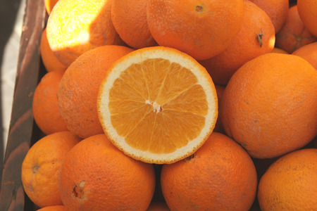 California Navel orange Stock Photo