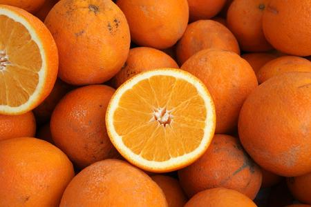 navel orange: California Navel orange Stock Photo