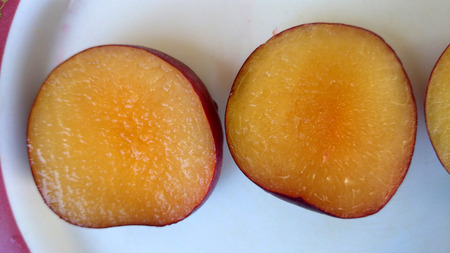 i like: Aprium, Velvet Series I S Apricot, Hybrid between apricot and plum with purple black velvety skin and apricot like yellow flesh, flavor and taste of apricots