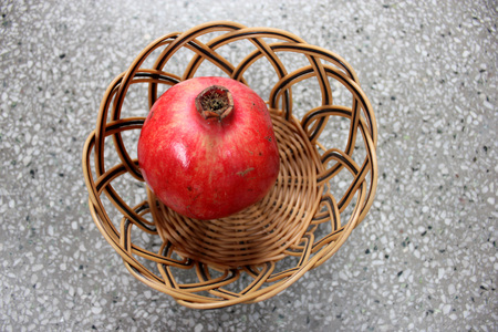 consumed: Punica granatum, Pomegranate, popular fruit borne on a deciduous shrub or small tree with red flowers, fruit a hesperidium with fleshy seeds consumed fresh or spice and seasoning when dried Stock Photo