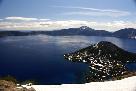 western united states: Crater lake, Crater Lake National Park, Caldera lake in Western United states in Oregon state.
