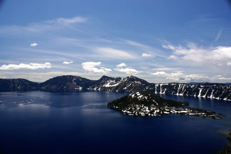 crater lake: Crater lake, Crater Lake National Park, Caldera lake in Western United states in Oregon state.