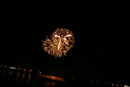40 years: Lake Siskiyou Fireworks, held every year on night of 4th of July, Independence day of USA, by Mt Shasta community through sponsorship and individual donations, the spectacular display of fireworks held for more than last 40 years