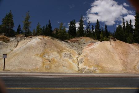 sulphur: Sulphur Works in Lassen Volcanic National Park, California, USA. Stock Photo