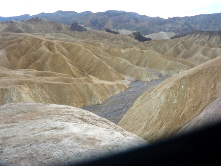 sediments: Badlands, Riverside County, California, also known as San Timoteo Badlands or Borrego badlands, dry hill slopes formed of layers of sandstone and mudstone capping soft clay hills, formed from sediments of the Pliocene and Pleistocene Epochs