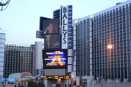 located: Ballys Las Vegas, Hotel & Casino, Nevada, USA located on Las Vegas Strip with rooms, Casino and large shopping area Editorial