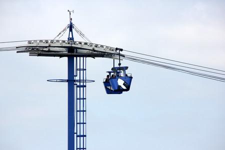 cirque: Cable Car, Cirque De La Mer, SeaWorld, San Diego, California, USA, skyride, panoramic cable-car ride over Mission Bay