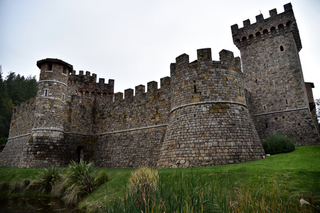 Castello di Amorosa, 13th century inspired Tuscan castle and winery in world famous Nappa Valley, USA, with beautiful chapel hall, Barrel room, Great Hall, Passito room, courtyard and Terrace.