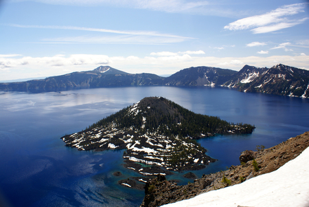 Crater lake, Crater Lake National Park, Caldera lake in Western United states in Oregon state.
