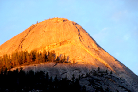 Sunset on North Dome, Yosemite.