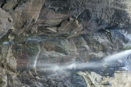 Yosemite fall, Yosemite National Park, Sierra Nevada, California , USA, less active in October month.