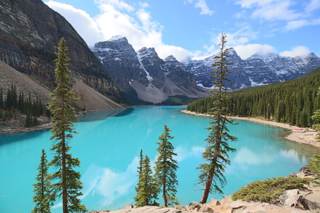 Moraine Lake, Alberta, Canada Banco de Imagens